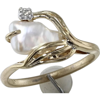 Freshwater and Diamond Ring