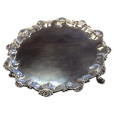 "London 1768 Sterling Salver or Waiter 7 1/8"" Diameter"