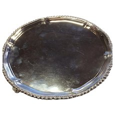"London 1781 Sterling Salver or Waiter 7 3/4"" Diameter"