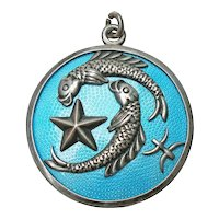 Sterling and Enamel Margot de Taxco Pisces Pendant