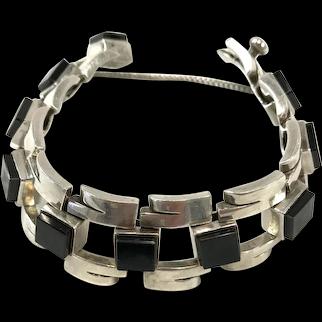 Antonio Pineda Bracelet Sterling Silver and Onyx