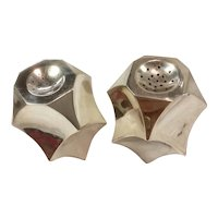 Antonio Pineda Faceted Sterling Silver Salt & Pepper Shakers