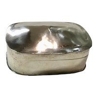 Arthur Stone Sterling Silver Pill Box with Gold Lining