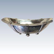Sterling Silver Handmade Art Deco Arts & Crafts Bowl