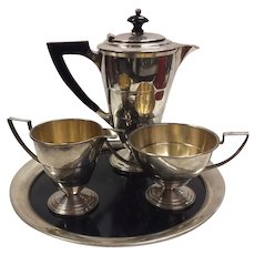 Vintage American Art Deco Demitasse Coffee Set