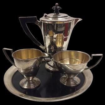 Vintage American Art Deco Demitasse Coffee Set