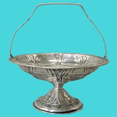 Sterling Silver Alvin Gift Line Footed Basket ca 1930