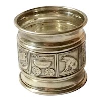Sterling Silver Gorham Napkin Ring with Mother Goose Illustrations
