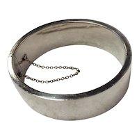Danish Sterling Silver Wide Franz Hingelberg Bracelet