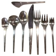 Georg Jensen Sterling Caravel Flatware Set Service for 4
