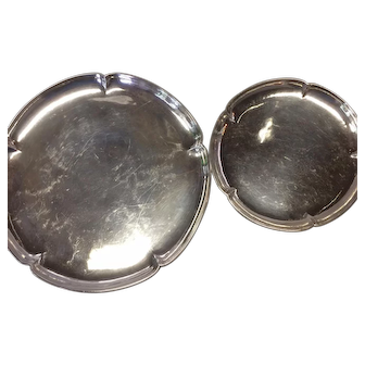 Kalo Shops Sterling Silver Cocktail Tray and Coaster Set