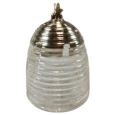 Wm. B .Kerr Sterling Silver and Glass Honey Pot/Jar