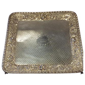 Early S. Kirk & Son Sterling (11 oz mark) Square Salver Circa 1880
