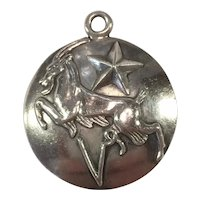 Margot de Taxco Capricorn, the Goat, Zodiac Sterling Silver Pendant/Charm