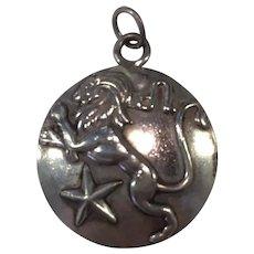 Margot de Taxco Leo, the Lion, Zodiac Sterling Silver Pendant/Charm