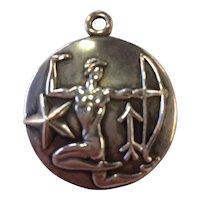 Margot de Taxco Sagittarius, the Archer, Zodiac Sterling Silver Pendant/Charm