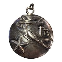 Margot de Taxco Virgo, the Virgin, Zodiac Sterling Silver Pendant/Charm