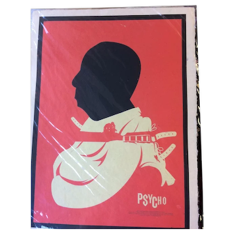 Silkscreen Artist Concept Psycho Movie Poster - Milton Glaser