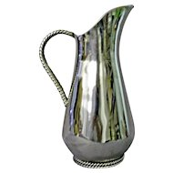 Sterling Silver Handmade Water/Cocktail Pitcher by Alfredo Sciarrotta