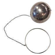 Sterling Silver Thread Case Sewing Ball with Bracelet