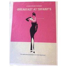 Silkscreen Artist Concept Breakfast At Tiffany's Movie Poster - Milton Glaser