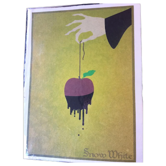 Silkscreen Artist Concept SNOW WHITE Movie Poster - Milton Glaser