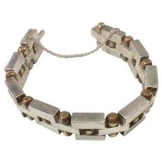 William Spratling Silver and Copper Bracelet