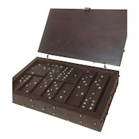 Wm Spratling Sterling & Rosewood Domino Set