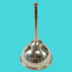"""Tiffany Sterling Silver Vermouth Dispenser """"Oil Can"""", Complete with All 3 Pieces"""