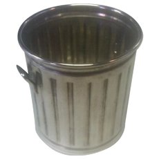 Sterling Silver Trash/Garbage Can