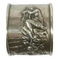 Sterling Silver Unger Brothers Siren on the Rocks Napkin Ring