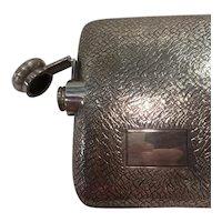 Sterling Silver Hip Flask by Clarence A. Vanderbilt, Larger Size
