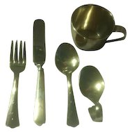 Sterling Silver 5 Piece Youth/Baby Set by Web
