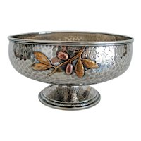 Whiting Sterling Mixed Metals Fruit Bowl, Aesthetic Movement