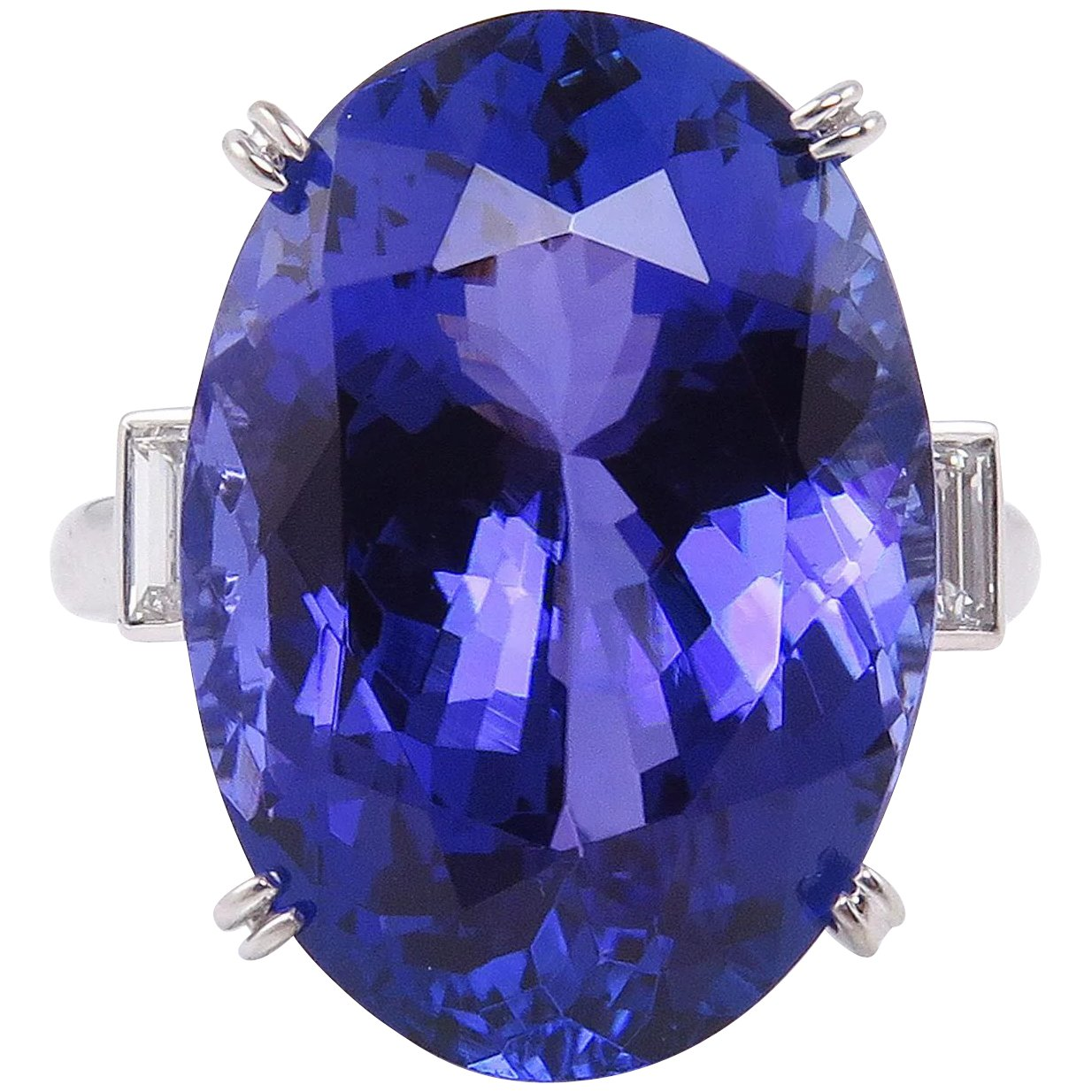 elegant shape earrings cut cert trillion tanzanite gia diamond with fancy pin