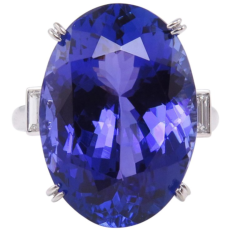 tanzanite premium oval purple