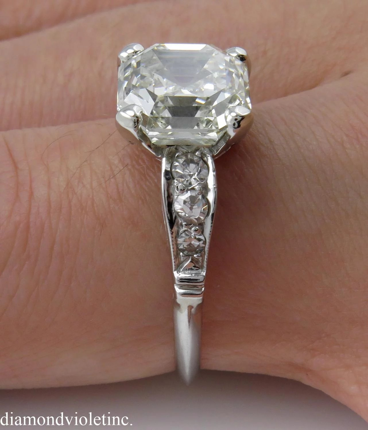 to asscher expand ring asher diamond deco full item engagement egl usa art click