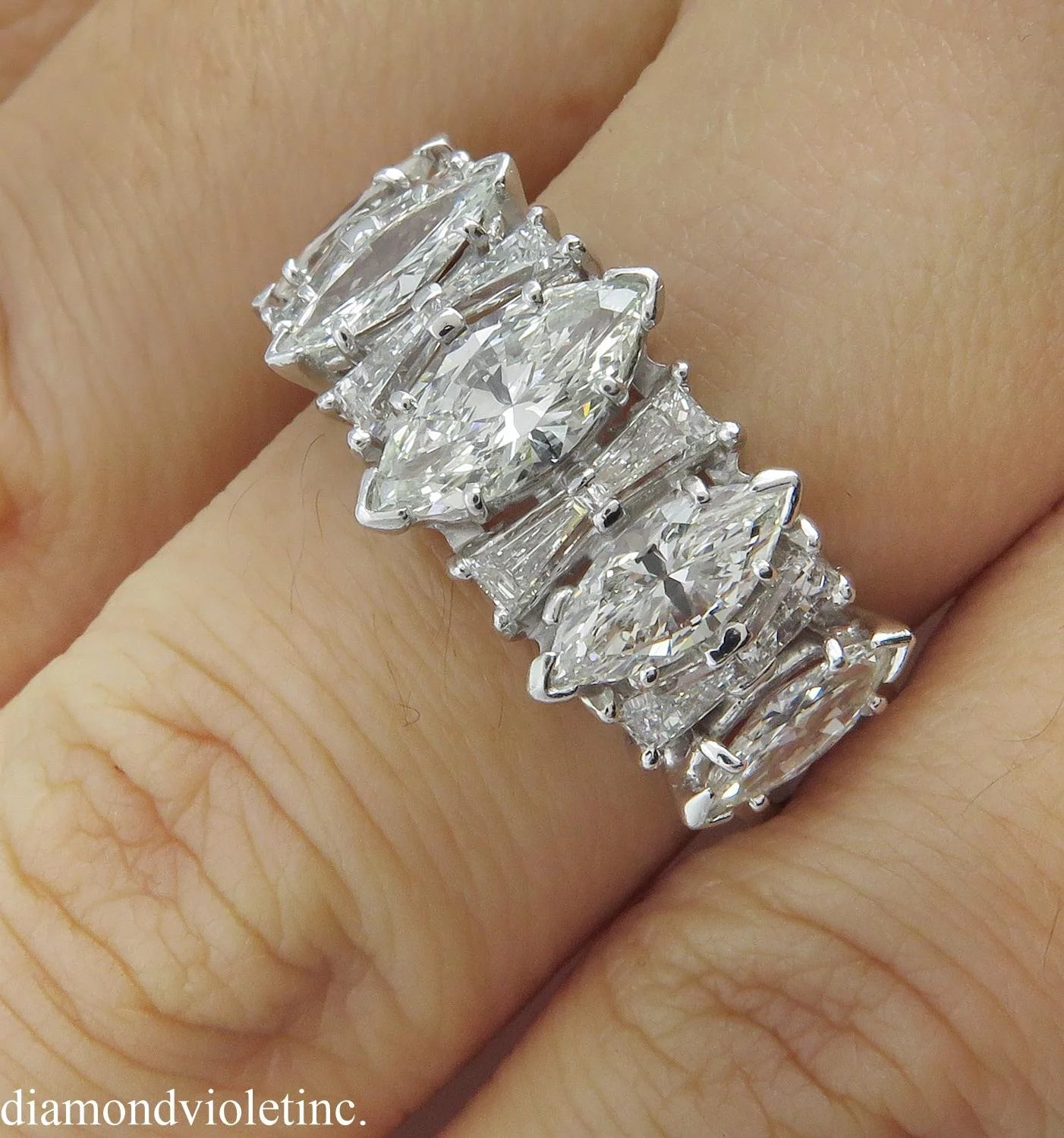 band tone round regular and gold baguette diamond two in back wgrg platinum bands wedding