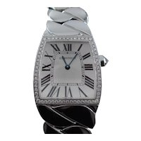 Cartier La Dona Ladies 29mm by 27mm Watch Diamond 18k White Gold