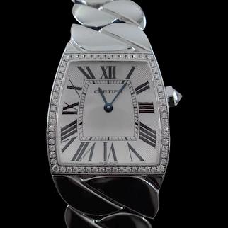 Cartier La Dona Ladies 29mm by 27mm Watch Diamond 18k White Gold