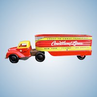 Courtland 1950s Tin Windup Trailer Truck
