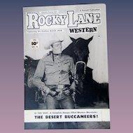 Rocky Lane Western #22 1952 Original Comic Book Art Framed