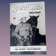 Rocky Lane Western #22 1952 Original Comic Book Art Framed