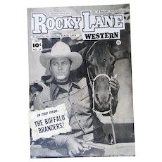 Rocky Lane Western #27 1952 Original Comic Book Art Framed
