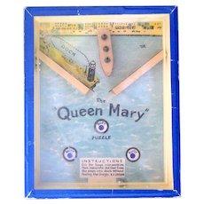 Queen Mary Ocean Liner 1930's Dexterity Puzzle Game
