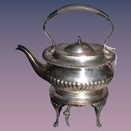 Antique Silverplate Gibson & Co., Belfast Teapot and Burner