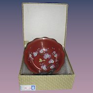 Vintage Chinese Cloisonne Bowl in ORG Box