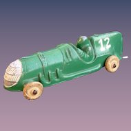 Hubley 1930's Die-Cast Steel Race Car #12 Awsome Condition!