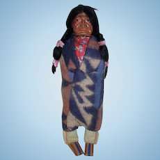 Vintage Skookum Indian Brave 13Inches Tall 1940-50s