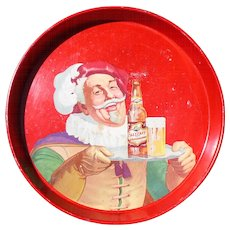 Falstaff Beer 1950's Colorful Advertising Tray